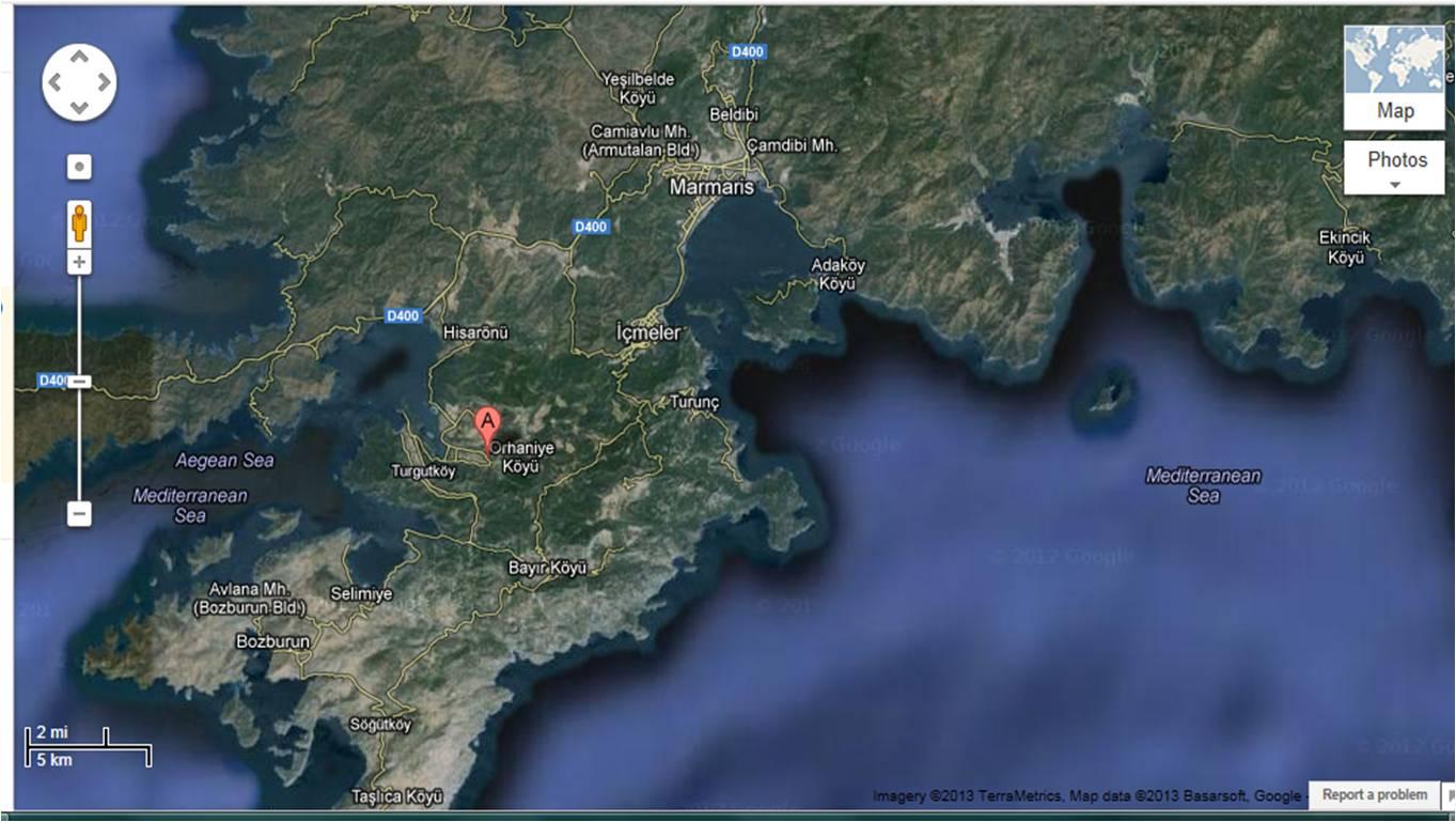 Ulaşım Orhaniye Google Maps 2