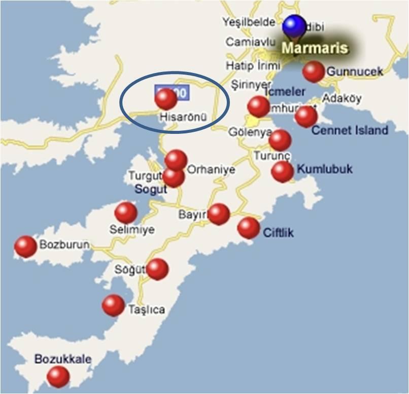 Hisarönü Harita